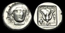 Ancient Coins - GR-BKDT - ASIA MINOR - RHODOS, Rhodes, AR Didrachm, ca.340-316BC.