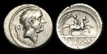 Ancient Coins - RE-PWDP - REPUBLIC - L Marcius Philippus AR Denarius, ca.57BC