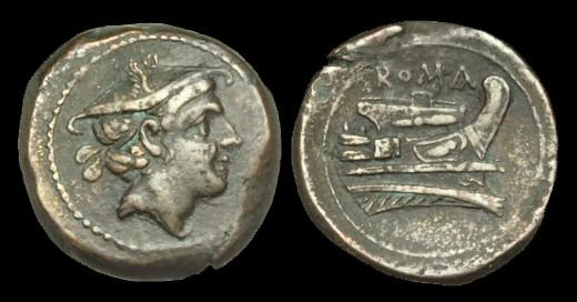 Ancient Coins - OR-KTQQ - REPUBLIC - Anonymous, AE Semunica, c217-215BC.