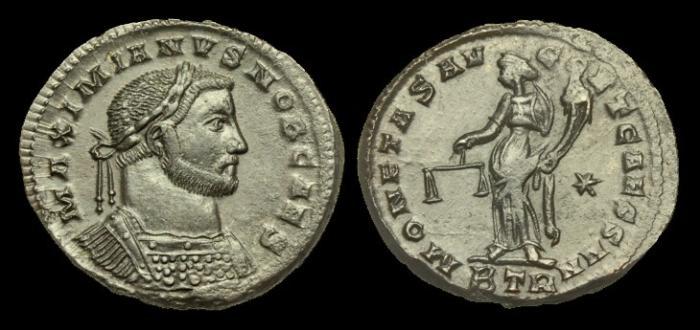 Ancient Coins - LT-DQQF - GALERIUS CAESAR AE Follis, c300-1.   ...   SACRED MONEY   ...