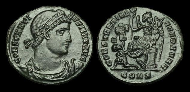 Ancient Coins - LT-UFTJ - CONSTANTINE I - AE3, ca.328AD.                 CONSTANTINIANA DAFNE