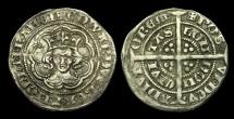 World Coins - ED-JJWB - EDWARD III 4th Iss. Pre-Treaty Halfgroat Cl. C, 1351-2AD.