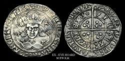 World Coins - LN-QUFT - HENRY VI Rosette Mascle Groat, ca.1430-1AD