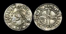 Ancient Coins - SA-KBQT - EDWARD THE CONFESSOR - Expanding Cross Type Light Penny, ca.1052-3AD.     PEDIGREE !