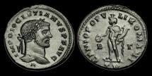 Ancient Coins - LT-QUTF - DIOCLETIAN - AE Follis, ca.296-7AD.                     H below Bust