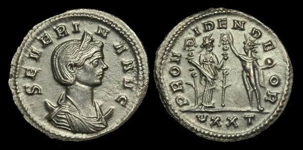 Ancient Coins - AN-DQWB - SEVERINA AE Antoninianus, wife of Aurelian, c274, c22mm, c3.7g.