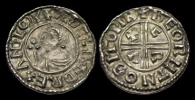 World Coins - SA-TKFD - AETHELRED II - CRVX Ty. Penny BMC IIIa, c991-7AD.            VERY RARE - New Moneyer