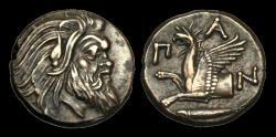 Ancient Coins - GR-UFJP - NORTHERN GREECE - CIMMERIAN BOSPOROS, Pantikapaion AE20, ca.310-303BC