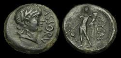 Ancient Coins - GR-BWUQ - ASSOROS - AE Hemilitron, ca.210-200BC.               RARE+