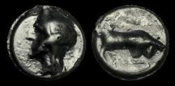 Ancient Coins - CE-FUBP - CELTIC TRINOVANTES THURROCK TYPE 'Helmeted Head' AE Cast Potin, ca.100-90BC