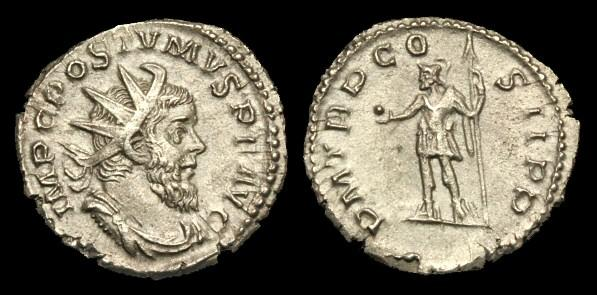 Ancient Coins - AN-FQWU - POSTUMUS Billon Antoninianus, c261, c22mm, c3.4g