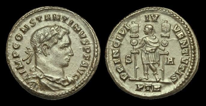 Ancient Coins - LT-KDTW - CONSTANTINE I AE Follis, c307-8AD, c25mm, c8.3g.