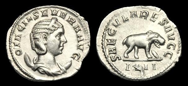 Ancient Coins - AN-DQPD - OTACILIA SEVERA AR Antoninianus, c248, c22mm, c3.3g.
