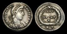 Ancient Coins - LT-PDFW - VALENTINIAN I - AR Siliqua, ca.364-7AD.                                RARE+