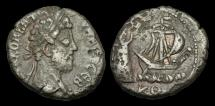 Ancient Coins - IM-FJTU - COMMODUS - EGYPT, Alexandria, Billon Tetradrachm.                PHAROS