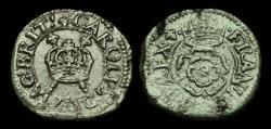 World Coins - ST-UKTU - CHARLES I - Rose Farthing Ty.1a,
