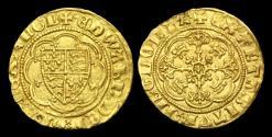 World Coins - ED-JKKD - EDWARD III - 4th Iss. Treaty Gold Quarter Noble, 1361-9AD.