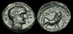 Ancient Coins - CE-PQDU - SPAIN - Castelo (Linares) AE Semis, ca.90-80BC