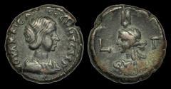 Ancient Coins - IM-KTPD - JULIA MAESA - Egypt, Alexandria Billon Tetradrachm, 220AD.                    BUST of ISIS