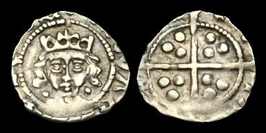 Ancient Coins - IR-KDQK - EDWARD IV 2nd R. Light 'Cross and Pellets' Penny, c1473-8, c14mm, c0.5g.