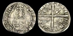 World Coins - AG-PFUW - ANGLO-GALLIC RICHARD II AR Hardi d'Argent, ca.1377-99AD