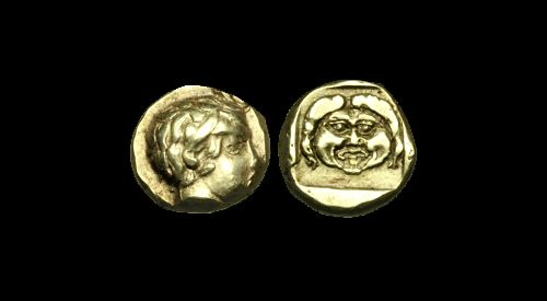 Ancient Coins - GR-DDTQ - ASIA MINOR - LESBOS, Mytilene, Electrum Hekte, ca.454-427BC.