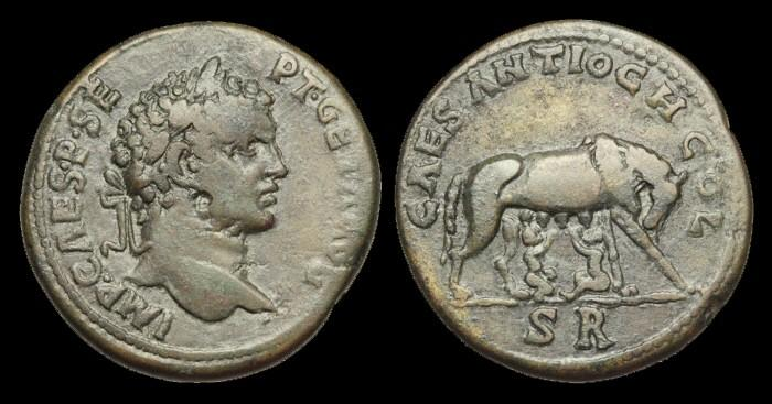 Ancient Coins - IJ-251 - GETA - Pisidia, Antiochia, AE32, c209-12AD.....MEDALLIC.....