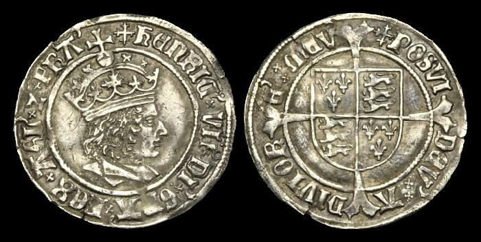 Ancient Coins - TU-BQDJ - HENRY VII - Profile Groat, 1504-5AD.....NICE COIN!.....