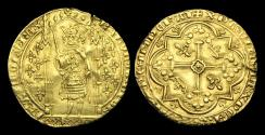 World Coins - EH-PFWT - FRANCE - Charles V Gold Franc a Pied, ca.1365