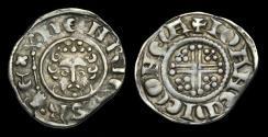 World Coins - SX-QTFW - HENRY III - Short-X Penny Cl.7b, ca.1222-36AD.