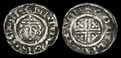 World Coins - SX-UDBT - RICHARD I - Short-X Penny Cl.3ab2, 1190-3AD.     WINCHESTER