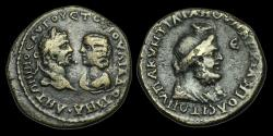 Ancient Coins - IM-DTUF - CARACALLA + JULIA DOMNA - MOESIA INFERIOR, Marcianopolis, AE.