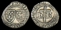 World Coins - AG-WUFP - HENRY VI - AR Petit Blanc, ca.1422-53AD.  ROUEN