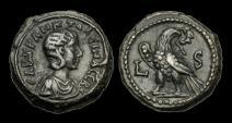 Ancient Coins - IM-WTFP - TRANQUILLINA AUGUSTA- Egypt, Alexandria, Bill Tetradrachm, LS = 242/3AD.