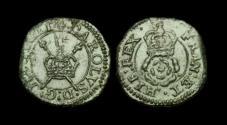 World Coins - ST-BFUD - CHARLES I Rose Farthing Ty.1b