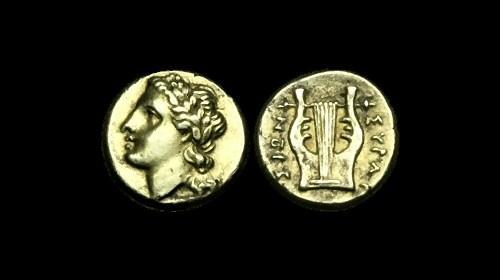 Ancient Coins - GR-JQWF - SICILY - SYRACUSE. Agathokles, Electrum 25 Litra, ca.317-289BC.