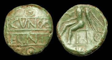 Ancient Coins - CE-JPKF - CATUVELLAUNI - CUNOBELIN, Bronze Unit, c10-20AD.
