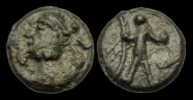 SS-PTBT - KINGS OF DUMNONIA AE Cast Potin, ca.420-60AD