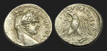 Ancient Coins - IM-JFWU - CARACALLA - Syro-Phoenician, Cyprus, uncertain, Billon Tetradrachm, ca.215-7AD.