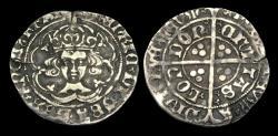 World Coins - TU-WDFP - HENRY VII - Facing Groat Ty. IIa, 1489-93AD.