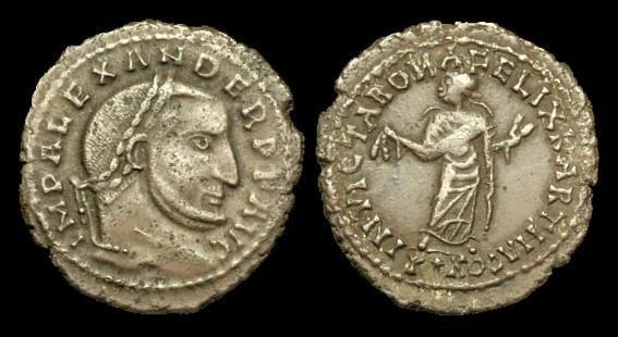 Ancient Coins - LT-JQBD - (L DOMITIUS) ALEXANDER of Carthage (Usurper), AE Follis, c308-10AD...VERY-RARE...