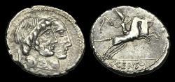 Ancient Coins - RE-FDBD - REPUBLIC - C. Marcius Censorinus, AR Denarius, ca.88BC.