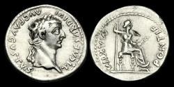 Ancient Coins - TI-KBUD - TIBERIUS - AR Denarius, ca.36-7AD.                           'Tribute Penny' of the bible