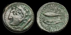Ancient Coins - CE-BFDW - SPAIN - Gades AE As, ca.100-50BC