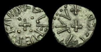 World Coins - SS-DQTJ - WULFHERE Abp. of YORK AE Sceat, c849-900, c13mm, c1.0g.