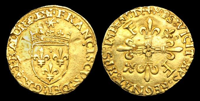 World Coins - OA-FKBF - FRANCE - FRANCIS I, Ecu d'or au Soleil, c1515-47AD.