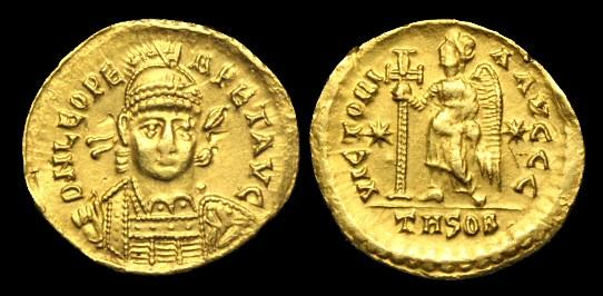 Ancient Coins - LT-DQWU - LEO I - Gold Solidus, c457-74AD......RARE THESSALONICA.....