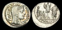 Ancient Coins - RE-PFDW - REPUBLIC - L. Aemilius Lepidus Paullus AR Denarius, ca.62BC.
