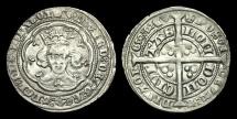 Ancient Coins - ED-UDFP - EDWARD III - Treaty Period Groat, 1361-9AD.