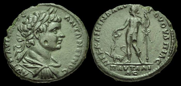 Ancient Coins - IJ-191 -  CARACALLA - Thrace, Pautalia AE29, c198-217, c28mm, c15.6g.